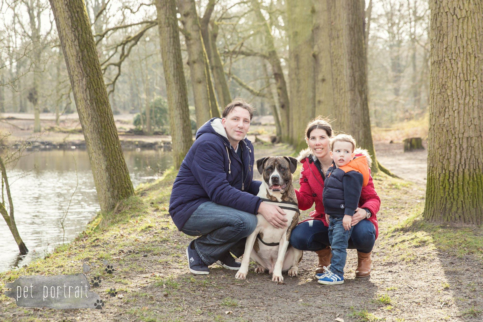 Hondenfotograaf Heemstede - Dier en Baasje fotoshoot in het bos-5