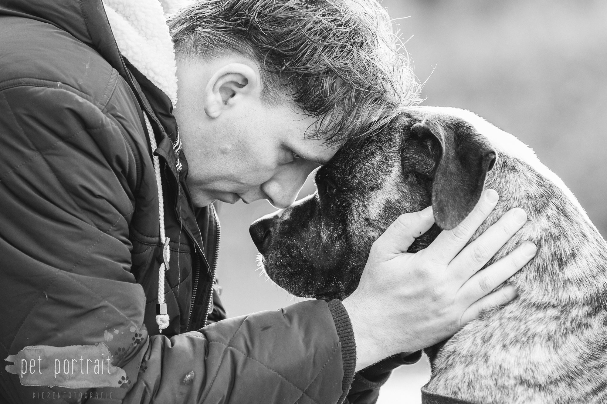 Hondenfotograaf Heemstede - Dier en Baasje fotoshoot in het bos-9